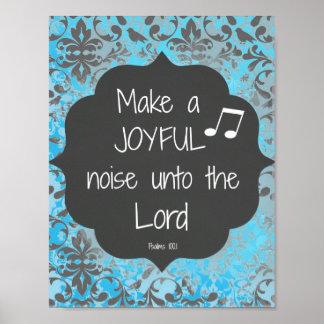 Haga que una biblia alegre del ruido versifica póster