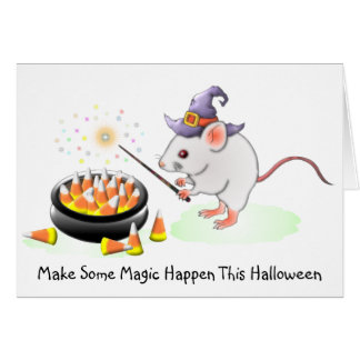 Haga que una cierta magia sucede este Halloween Tarjeta De Felicitación