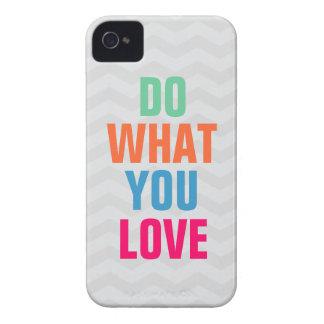 Haga qué usted aman el iPhone 4 4s del fondo del Case-Mate iPhone 4 Cárcasa