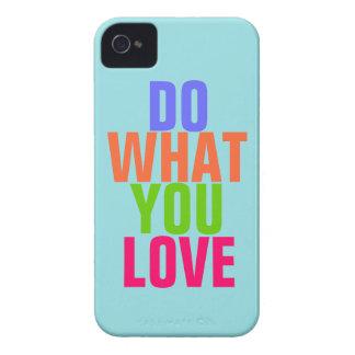 Haga qué usted aman el iPhone azul 4 4s del fondo iPhone 4 Cárcasas
