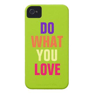 Haga qué usted aman el iPhone púrpura 4 4s del fo iPhone 4 Case-Mate Carcasas