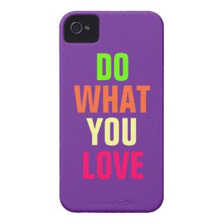 Haga qué usted aman el iPhone púrpura 4 4s del fo Case-Mate iPhone 4 Cárcasas
