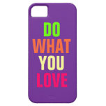 Haga qué usted aman, el iPhone púrpura 5 del fondo iPhone 5 Case-Mate Protector