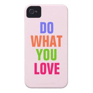 Haga qué usted aman el iPhone rosado 4 4s del fon iPhone 4 Case-Mate Cárcasa