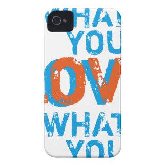 haga qué usted aman impresión inspirada del arte iPhone 4 carcasas