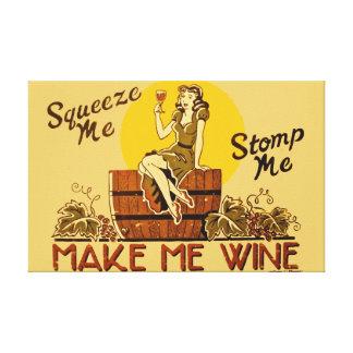 Haga que Wine impresión estirada decorativa de la  Lienzo Envuelto Para Galerías