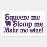 Haga que Wine Rectangular Pegatinas