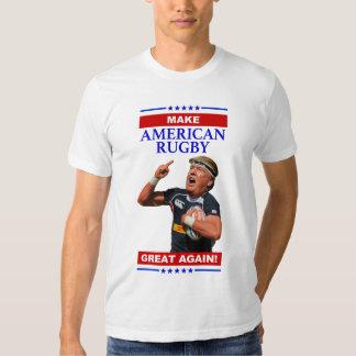 Haga rugbi americano la camiseta de los grandes playeras