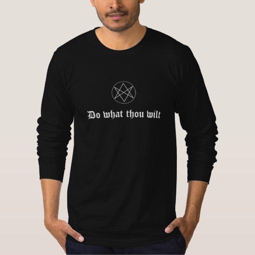Haga se marchita qué mil, con hexagram playeras