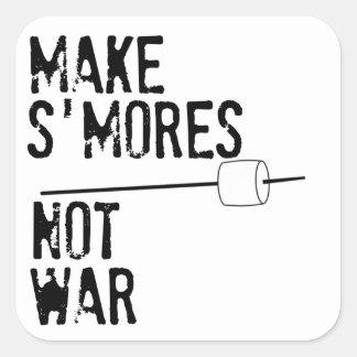 Haga S'mores, no guerra Colcomania Cuadrada