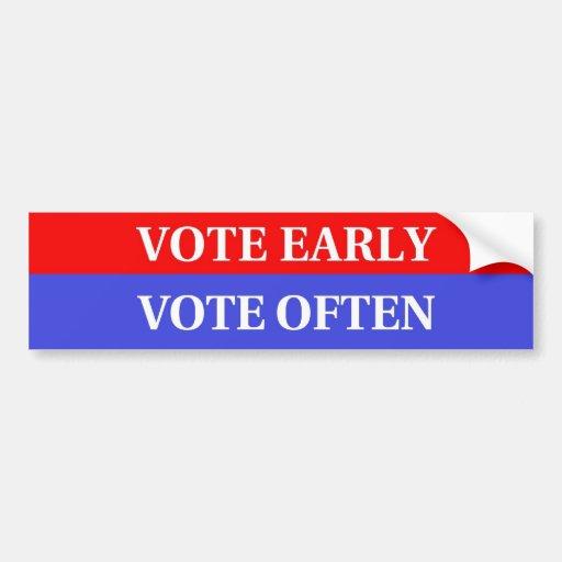 Haga su cuenta de los votos - voto temprano, voto  pegatina de parachoque