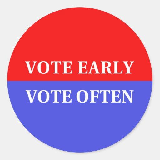 Haga su cuenta de los votos - voto temprano, voto etiqueta redonda