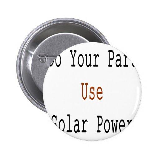 Haga su energía solar del uso de la parte pin redondo de 2 pulgadas