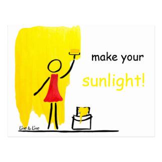 haga su luz del sol tarjetas postales