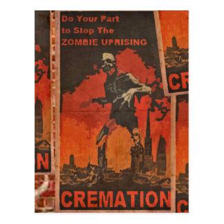 Haga su parte para parar la sublevación del zombi tarjeta postal