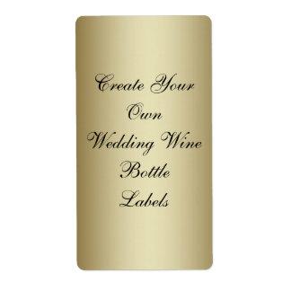 Haga su propia botella de vino del boda del negro etiqueta de envío