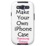 Haga su propia caja de la galaxia de Samsung Galaxy S3 Protector