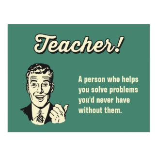 Haga su propia definición divertida del profesor tarjetas postales