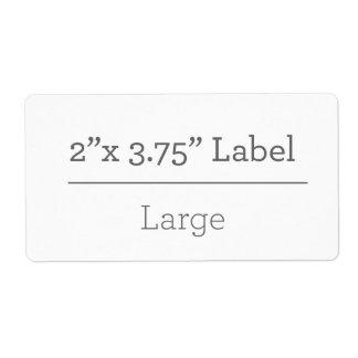 Haga su propia etiqueta 8,5 x 11 etiquetas de envío