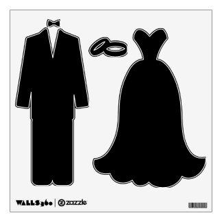 Haga su propia etiqueta de la pared de novia y del