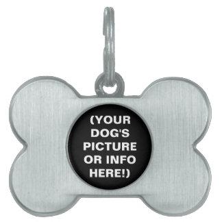 ¡Haga su propia etiqueta del mascota del hueso de Placa Mascota