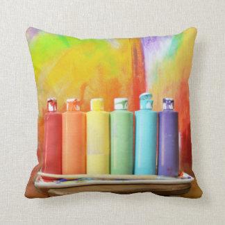 Haga su propia fotografía de los arco iris cojín decorativo