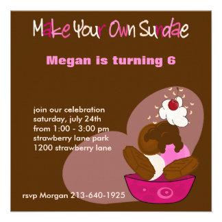 Haga su propia invitación del cumpleaños del helad