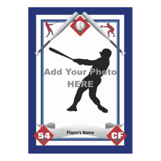 Haga su propia tarjeta de béisbol tarjetas de visita