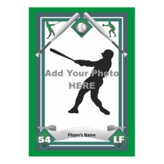 Haga su propia tarjeta de béisbol tarjetas de visita grandes