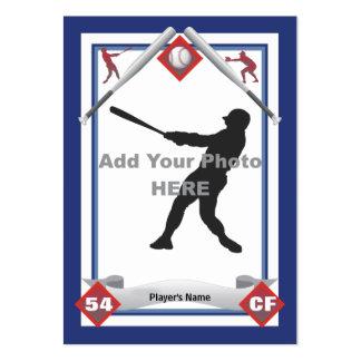 Haga su propia tarjeta de béisbol plantillas de tarjetas personales