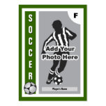 Haga su propia tarjeta del fútbol tarjetas de visita