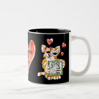 Haga su propia taza linda del gato