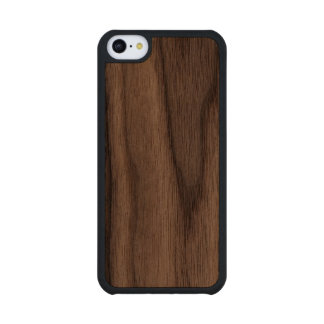 Haga su propio Carved® delgado los casos de madera Funda De iPhone 5C Slim Nogal