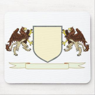 Haga su propio cojín de ratón del escudo de la fam alfombrilla de raton
