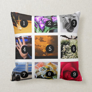 Haga su propio collage de la foto con 9 imágenes almohada