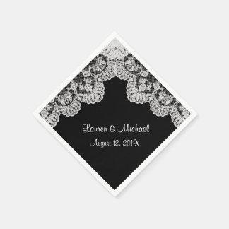 Haga su propio color el falso boda blanco del servilleta desechable