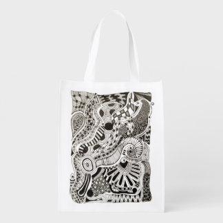 Haga su propio dibujo o ilustraciones del Doodle Bolsas Para La Compra