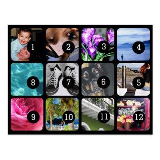 Haga su propio envío de 12 fotos tarjetas postales