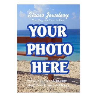 Haga su propio fondo del pendiente tarjetas de visita grandes