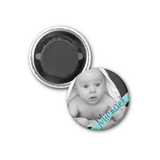 Haga su propio imán del nombre de la foto del bebé