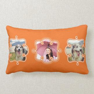 Haga su propio naranja brillante 3 fotos de almohadas