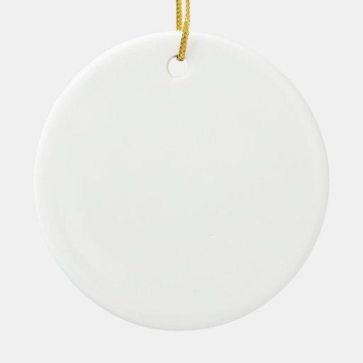 Haga su propio ornamento del navidad adorno navideño redondo de cerámica