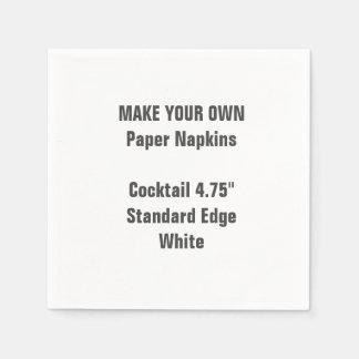 Haga su propio pequeño cóctel BLANCO las Servilletas Desechables