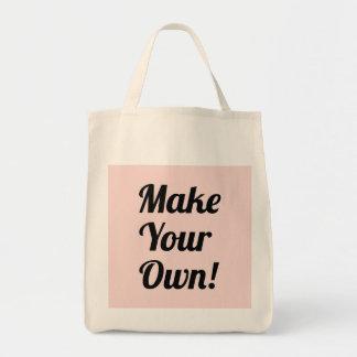 Haga su propio personalizado impreso bolsa lienzo