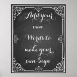 Haga su propio poster para su fiesta o boda