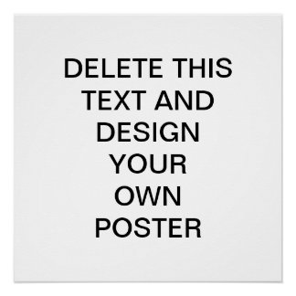 Haga su propio poster perfecto