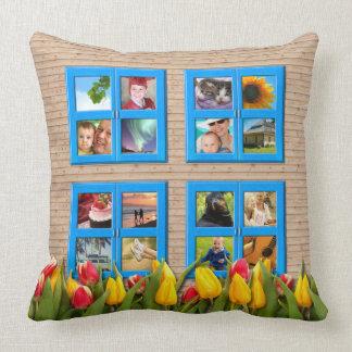 Haga su propio tulipán de la ventana del collage almohadas