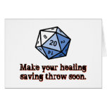 Haga su tiro curativo del ahorro pronto tarjeta de felicitación