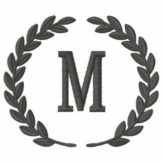 Haga sus laureles personalizados del monograma el  camiseta polo bordada