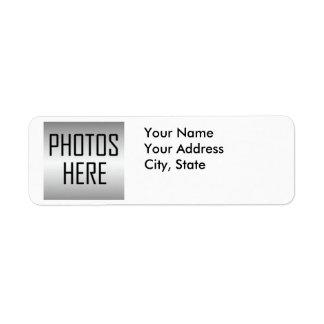 haga sus propias fotos del personalizado de las et etiquetas de remite